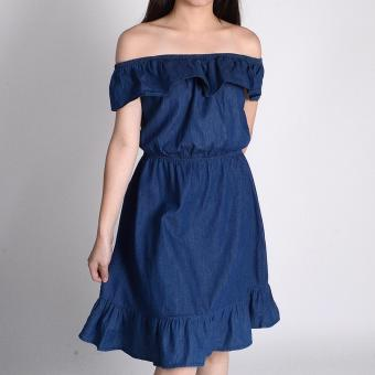 Harga Redgirl Off Shoulder Dress Rgt08-1267 (Medium Wash Blue )