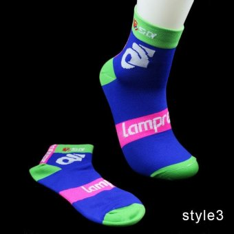 High quality Professional New Men's Women Cycling Socks Bike Bicycle Crew Socks Footwear Stockings Breathable Socks - intl Price Philippines