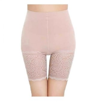 Munafie Japan Fat Burning Lace Panty Girdle Leggings (Beige) Price Philippines