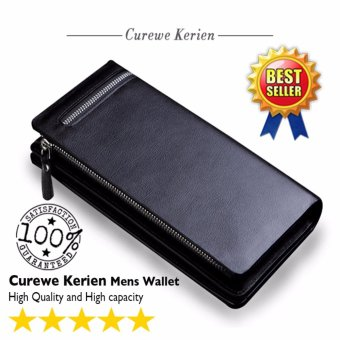 Curewe Kerien men's pu leather wallet - High capacity and High Quality - CLASSIC BLACK COLOR Price Philippines