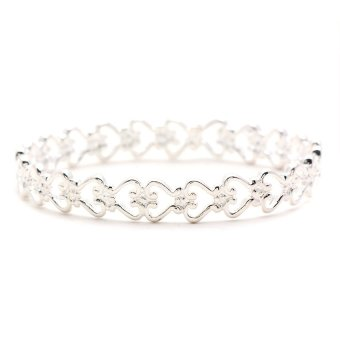 Jewelworld Eva Tiffany 64 Bangle (Silver) Price Philippines