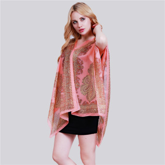 HangQiao Bohemia Shawl National Style Cashew Paisley Printing Beach Scarf (Watermelon Red) - Intl Price Philippines