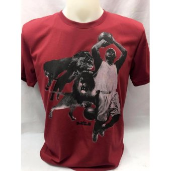 Harga Lebron with Lion adult t-shirt large
