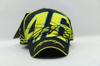 Harga Yellow moto gp motorcycle driver Rossi 46 baseball hat cap hiphop snapback golf sunhat large size (black) - intl