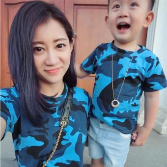 Harga Family Matching Clothes Short Sleeve Father Mother Kids Outfits(Boy)
