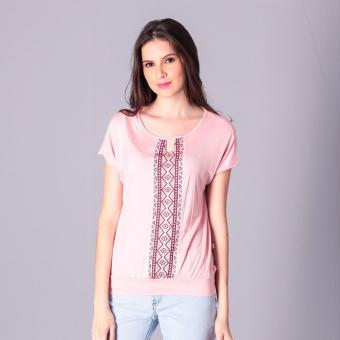 Harga No Apologies Knitted Jap. Cotton Blouse S/S (Peach)