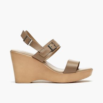 Harga Parisian Ladies Robi Wedge Sandals (Taupe)