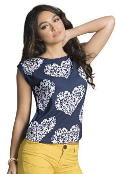 Harga MSE Zaviera Ladies Top (Navy)