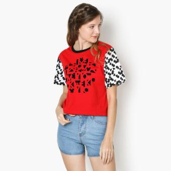 Harga Disney Mickey Mouse Teens Graphic Tee (Red)