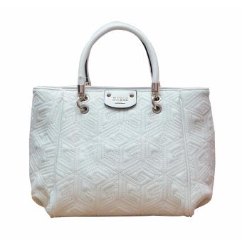 Harga Guess Cube Abbey Quilted Bag (White)
