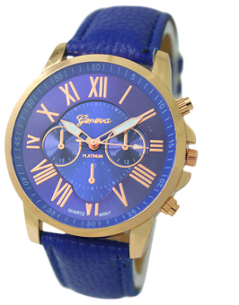 OEM Geneva Women's Blue Leather Strap Watch 9298 Blue Price Philippines
