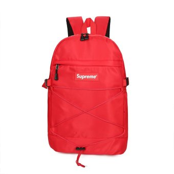Harga Supreme 2017 New Travel Bag Men and Women Fashion Waterproof Large Capacity Computer Bag Hiphop Backpack - intl