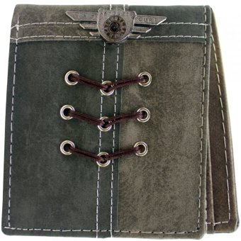 KayGurt Cross Lace Earth Tone Wallet (Dark Grey/Light Grey) Price Philippines