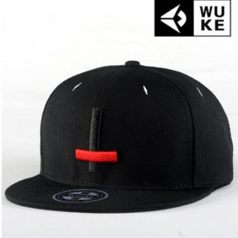 Harga Victory Fashion Man New Hats Cross Skateboard Flat edge cap Hip hop Baseball cap(Black) - intl