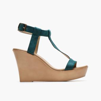 Harga Parisian Ladies Stasya Wedge Sandals (Teal)