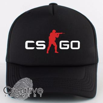 Harga Creative Imprint CS-GO Red Counter Strike Go Gamer Trucker Net Mesh Unisex Cap (Full Black)