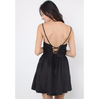 Sexy Back Flare Dress (Black) Casual Dress Price Philippines