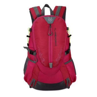 Harga Fahion Waterproof Outdoor port houder Bag Trave backpack (Pink)