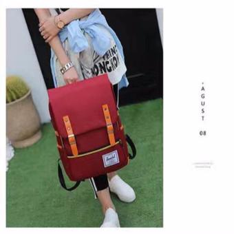 Harga QF New Korean BagPack(RED)