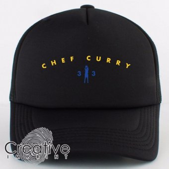 Creative Imprint Chef Curry 33 Stephen Curry NBA Golden State Warriors Trucker Net Cap (Full Black) Price Philippines
