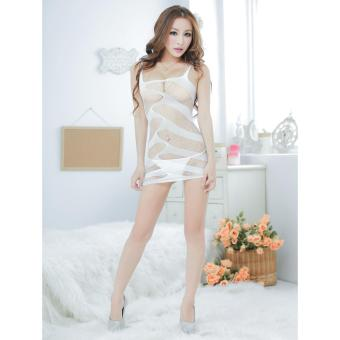 Harga Sexy Lingerie Women Erotic Lingerie Hot Sex Products Sexy Costumes Underwear Slips Intimates Dress(White) - intl