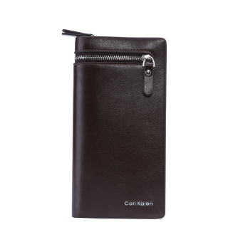 Leegoal Men's PU Leather Long Purse Business Mens Wallet (Coffee) - intl Price Philippines