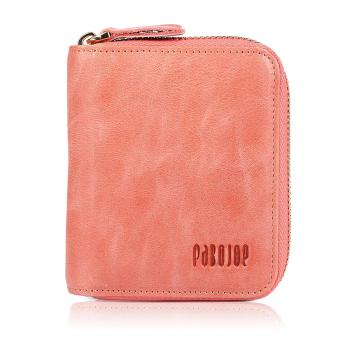 Pabojoe Women Fashion Genuine Leather Coin Wallet Multifunction Lady Card Wallet(Pink) - intl Price Philippines