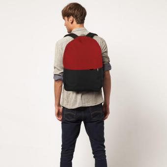 Harga Treeco Canvas Sul Ross Collection Backpack (Red/Black)