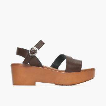 Harga Parisian Basic Penta Wedge Sandals (Dark Brown)