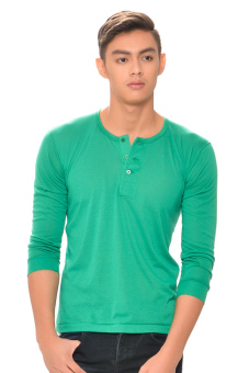 Harga Tex-Cock Long Sleeves Camisa de Chino (Emerald Green)