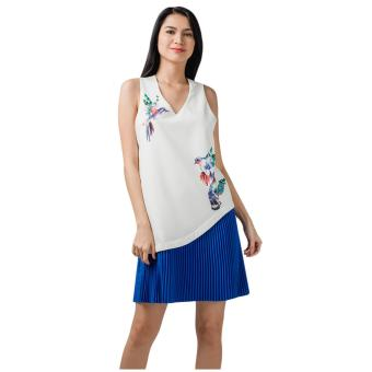 Harga Plains & Prints Marina Sleeveless Dress (Multi)