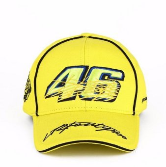 Harga Yellow moto gp motorcycle driver Rossi 46 baseball hat cap hiphop snapback golf sunhat - intl