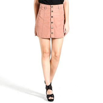 Harga PENSHOPPE Suede Button Front Skirt (Old Rose)