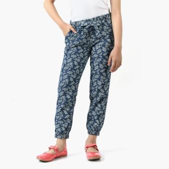 Just Jeans Girls Floral Chambray Drawstring Pants (Blue) Price Philippines