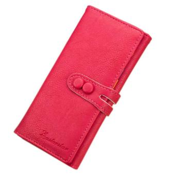 New Fashion Hot Lady Women Candy Soft Leather Clutch Wallet Cute Long Card Purse - intl Price Philippines