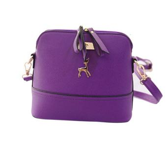 New Women Messenger Bags Vintage Small Shell Leather Handbag Casual Bag Purple - intl Price Philippines