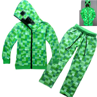 Harga '2 Pieces Minecraft Boys'' 4-14 Years Old Fashion Pant + Thin Cotton Sweaters(Color:Green) - intl'