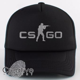 Harga Creative Imprint CS-GO Classic Counter Strike Go Gamer Trucker Net Mesh Unisex Cap (Full Black)