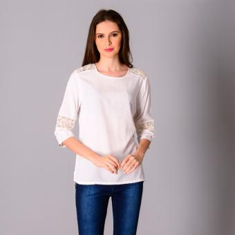 Harga Redgirl Quarter Sleeves Woven Blouse RLT04-2791 (White)