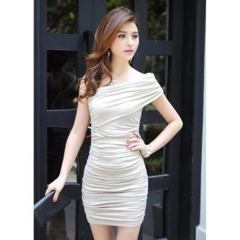 Harga One Shoulder Sleeve Bodycon Dress