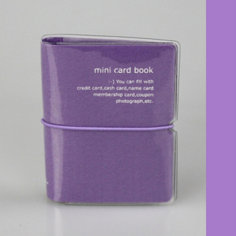 Candy Color 32 Slots Business ID Credit Card Case Holder PVC Bag Wallet Purple Price Philippines