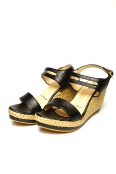 Harga Ohrelle Monet Esapadrille Wedge Sandals (Black)