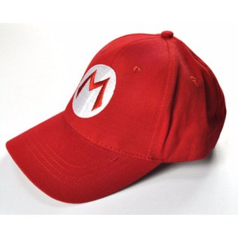 Fashion Super Mario Bros Cotton Baseball Hat Anime Cosplay Mario Cap Red - intl Price Philippines