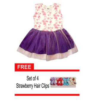 Flower Beans Verbena Sleeveless Large-size Tutu Dress with Free Hair Clips Price Philippines