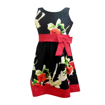 Kids dress floral bow party girl dress Price Philippines