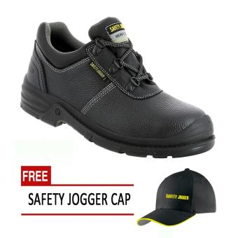 Safety Jogger Bestrun S3 Low Cut Men Safety Shoes Footwear Steel Toe (Black/Gray) with Free Safety Jogger Cap Price Philippines