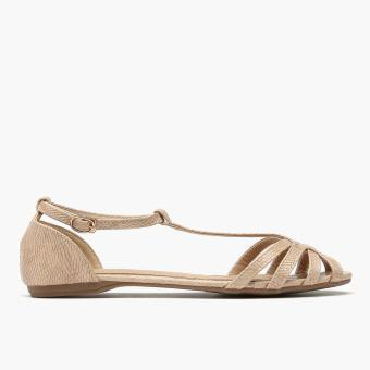 Harga Parisian Ladies Jem Flat Sandals (Nude)