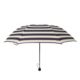 Harga Navy stripes folded Umbrella (Navy)