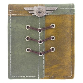 KayGurt Cross Lace Earth Tone Wallet (Sap Green/Brown) Price Philippines