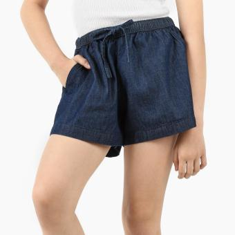 Just Jeans Girls Drawstring Dark Wash Chambray Shorts (Blue) Price Philippines